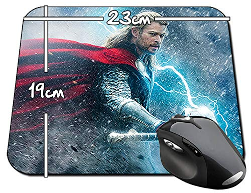 Thor El Mundo Oscuro The Dark World Chris Hemsworth B Mauspad Mousepad PC (Hemsworth B)