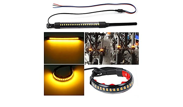 luce flessibile a LED per la targa striscia luminosa a LED per segnale freno per moto LED 32-3528 da 20,3/ cm KaTur