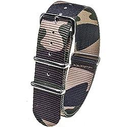 Stash Bands 20mm Jungle Camo austauschbar Ersatz NATO Strap Band-natogreen20