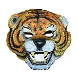 Ogquaton Tiger Head Mask Novità in lattice di gomma Creepy Deluxe Maschera per animali selvatici Decorazioni per costumi da festa di Halloween Durevole e utile