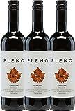 3er Paket - Pleno Tempranillo Tinto DO 2017 - Bodegas Agronavarra   trockener Rotwein   spanischer Wein aus Aragonien   3 x 0,75 Liter
