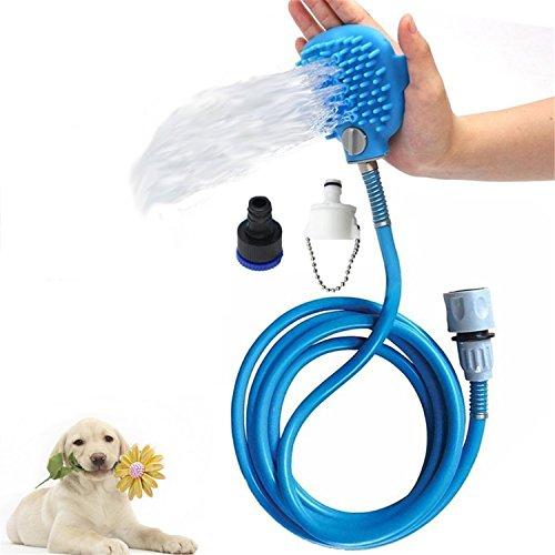 Haustier-Baden-Werkzeug, linyingdian-Hundedusche 2 in 1 funktionellem Haustier-Werkzeug-Sprüher und Wäscher-Innen- / Außengebrauch