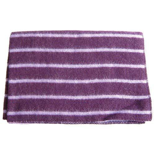 Dekolust Wolldecke Stripes Lupine/Aubergine