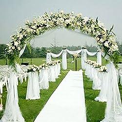 Tul de tela, gasa sólida para decoración de la boda (Blanco)