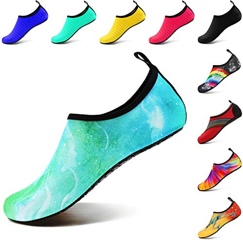 VIFUUR Wassersport Schuhe Barfuß Quick-dry Aqua Yoga Socken Slip-on für Männer Frauen Kinder