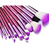 Glow 12 Makeup Brushes Set in Purple Crocodile Leather Design Case