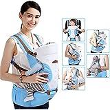 GBlife Porte-bébé Nouvelle Conception Réglable Multifonction 5 Moyens à Porter avec Siège Coton Respirant pour Nouveau-nés Nourrissons Tout-petits