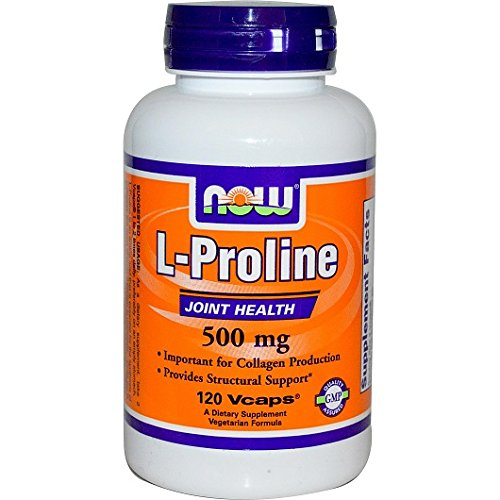 Now Foods, L-prolina, 500 mg, 120 capsule vegetali