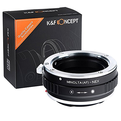 K&F Concept® Minolta(AF)-NEX Objektivadapter Adapter Ring Objektiv Adapterring für Minolta(AF) Objektiv auf Sony E-mount NEX Systemkamera (Minolta-kamera-objektiv)