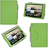 """Kepuch 7.9"""" Acer Iconia A1 A1-810 Book style Leather Case Cover Stand For 7.9"""" Acer Iconia A1 A1-810 +Pen - GREEN"""