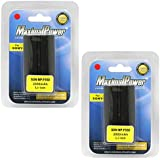 MaximalPower Lot de 2 batteries de rechange pour appareil photo Sony NP-F550/NP-F330/NP-F550/NP-F570/CCD-SC55/CCD-TR818/CCD-TR910