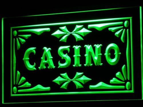 Enseigne Lumineuse i708-g Casino Beer Pub Games Poker Bar Neon Light Sign