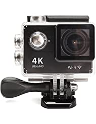 Mohoo WiFi Sport Action Kamera Full HD 4K DV Auto DVR SPCA6350 HDMI Wasserdicht Fernbedienung 150° Weitwinkellinse Full 1080P WiFi HDMI camcorder für Helm, Tauchen, Radfahren und Extremsport