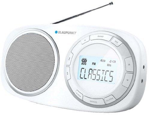 Blaupunkt Radio BSD-9001 white - digitales Multiband FM/MW/LW/SW Radio with LCD Display, 3 speaker, Weltreceiver, 40 Speicherplätze, 3,5mm Klinke-Anschluss for Kopfhörer, Teleskopantenna, 1,2 Watt RMS, watch with Weckfunktion integriert, 4x 1.5V D Batterien (nicht enthalten), Größe: 2 by Blaupunkt