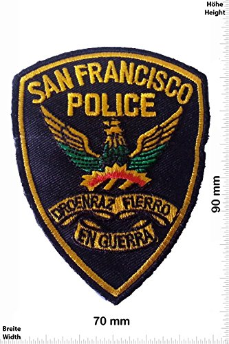 Patch - San Francisco POLICE 9 CM - US - Police Patch - Polizei - SWAT - Patches - Aufnäher Embleme Bügelbild Aufbügler (Patches Für Die Polizei)
