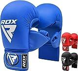 RDX Gants de Taekwondo Cuir De Maya Hide Vachette MMA Gants Sparring UFC Libre Entrainement Grappling Karaté Combat Sac De Frappe Art Martiaux Kickboxing