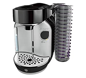 Bosch Tassimo Caddy T75 1.2L Coffee Pod Machine - 32 Disc Pod Holder & Brita Filter - BLACK & SILVER