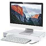 Laptopständer, Verbesserte Alulegierung Cooling Laptop Stand, geeignet für Apple Macbook,Laptop, Apple Tastaturen, Mäuse, Monitore und die meisten Computermodelle (Silber)