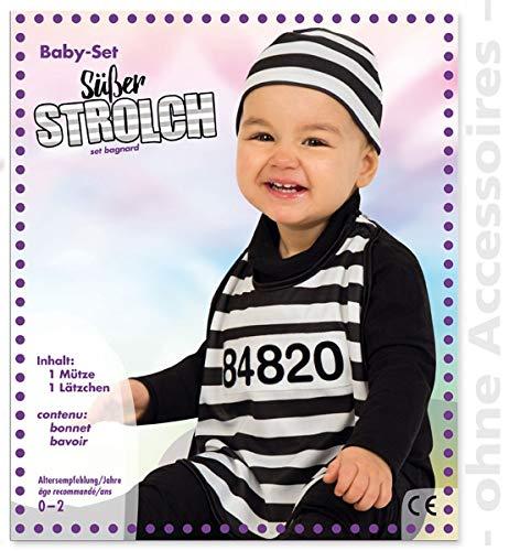 Unbekannt Sträfling Kleinkind Knacki Baby Gefangener Sträflingskostüm Kostüm