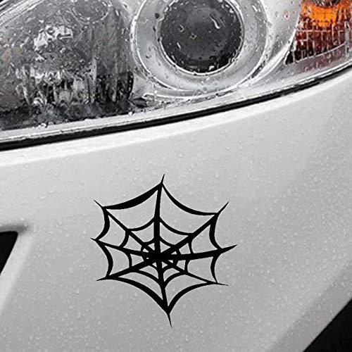 Stukk Stickers Spinnennetz-Halloween-Design, Auto-Aufkleber, Vinyl, 15 cm x 15,6 cm - Schwarz