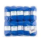 Gründl 760-35 Pelotes de laine polyacrylique , lot de 10,  bleu roi