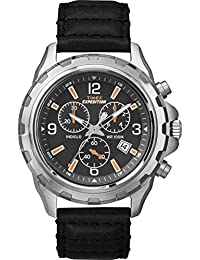 Timex Herren-Armbanduhr Chronograph Quarz Leder T49985