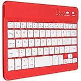 GZD aluminio aleación compatible Bluetooth teclado ultra delgado teléfono celular plano teclado inalámbrico Windows IOS Android , red