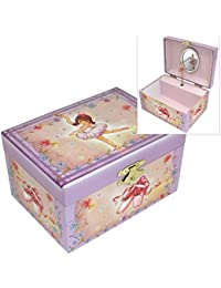 Mele & Co. Girls Musical Ballerina Jewellery Box with Flower & Ballet Shoe Design
