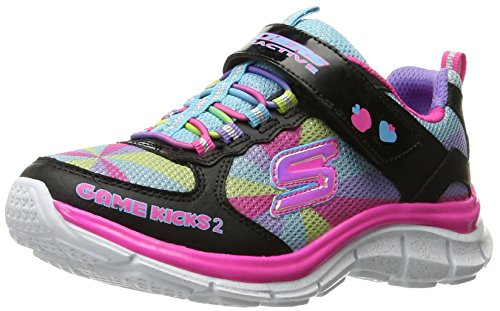 Skechers Kids Juicy Smash Game Kicks 2 Sneaker (Little Kid), Black/Multi, 3 M US Little Kid (Juicy Schuhe Kids)