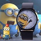 Kent Marks Armbanduhr mit niedlichem Minions-Motiv, für Jungen und Mädchen, analoges Quarz, Geschenk