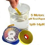 DaDago 5M Ph Alkaline Acid Test Paper Water Litmus Testing for Gardening Aquarium Plant