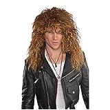 Mens Glam Rock Star Wig