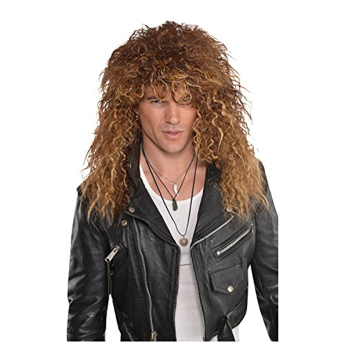 Glam Rock Star Wig Mens Fancy Dress 80s Wig