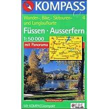 Kompass Wanderkarte: Füssen - Ausserfern