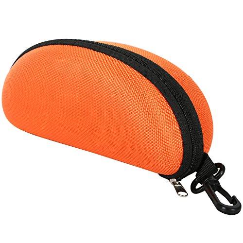 Trixes oranges Brillenetui mit Reißverschluss für Brille Sonnenbrille Lesebrille