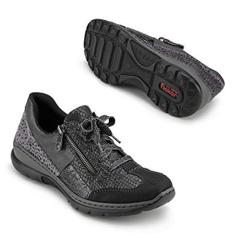 Rieker Damen L3223 Sneakers Schwarz (schwarz/granit/granit/blei/Grau / 00)