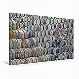 Calvendo Premium Textil-Leinwand 75 cm x 50 cm Quer Ein Böttcher bei Seiner Arbeit inmitten unzähliger Whiskyfässer | Wandbild, Bild auf Keilrahmen, Fertigbild auf Echter Leinwand, Leinwanddruck
