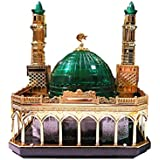 Gold Plated Madina 3D Model With Minarets, Dome And LED Lights. Best For Home And Festive Decor