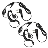Neoteck 2 PCS Walkie Talkie Headphones Two Way Radio Earpiece Headset with Microphone For BF-888S UV-5R and Other Radio Devices with 2-Pin Mic Connector