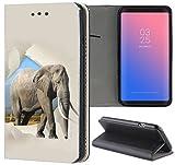 Samsung Galaxy S3 / S3 Neo Hülle Premium Smart Einseitig Flipcover Hülle Samsung S3 Neo Flip Case Handyhülle Samsung S3 Motiv (1480 Elefant Afrika Wildness Grau)
