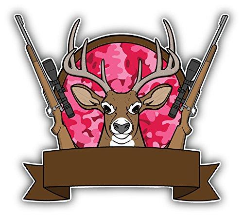 Deer Hunting Camp Art Decor Vinyl Sticker Aufkleber 12 x 10 cm