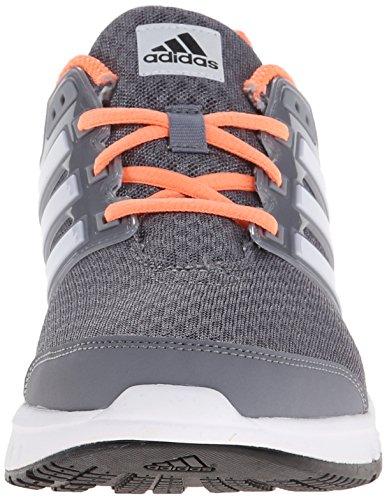 New Adidas Galaxy Elite Running Shoe Gris / gel vert 5 Grey/White/Flash Orange