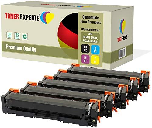 TONER EXPERTE® 5 Premium Toner kompatibel zu HP 205A CF530A CF531A CF532A CF533A für HP Color Laserjet Pro MFP M180n, M180nw, M181fw, M154a, M154nw