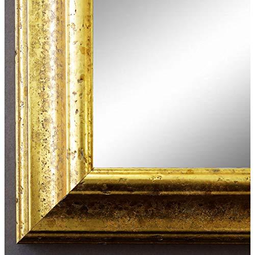 Online Galerie Bingold Spiegel Wandspiegel Badspiegel Flurspiegel Garderobenspiegel - Über 200 Größen - Genua Gold 4,3 - Außenmaß des Spiegels 70 x 110 - Wunschmaße auf Anfrage - Antik, Barock