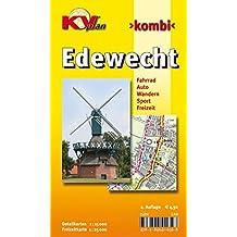 Edewecht: 1:15.000 Gemeindeplan mit Freizeitkarte 1:25.000 mit Rad- und Wanderwegen (KVplan Ostfriesland-Region / http://www.kv-plan.de/Ostfriesland.html)