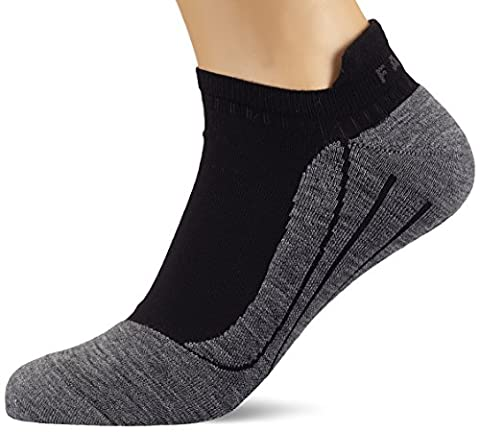 FALKE Herren Laufsocke RU4 Invisible, Black-Grey, 44-45, 16707