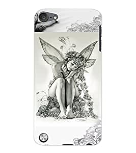 ColourCraft Butterfly Girl Design Back Case Cover for APPLE IPOD TOUCH 5