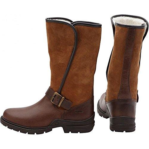 Horka Chesterfield impermeabile e termico foderato in pile stivali tutte le misure Brown