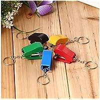 Creative 1 pieza creativa portátil Colorblock de ahorro de trabajo Mini grapadora tamaño pequeño para regalo (color al azar) material escolar