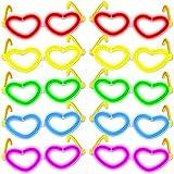 KnickLichter Party Brillen 10er Set Herzform Party Brille mit Toller Leuchteffekt - Sehen & Gesehen Werden, Farben:Farb Mix